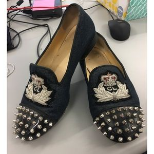 Christian Louboutin spiked loafers